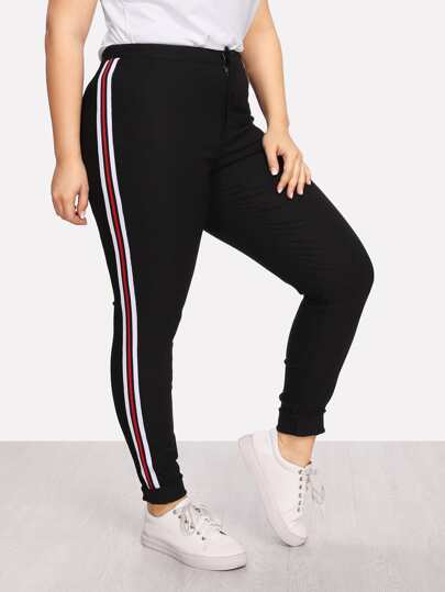 Stripe Side Skinny Pants