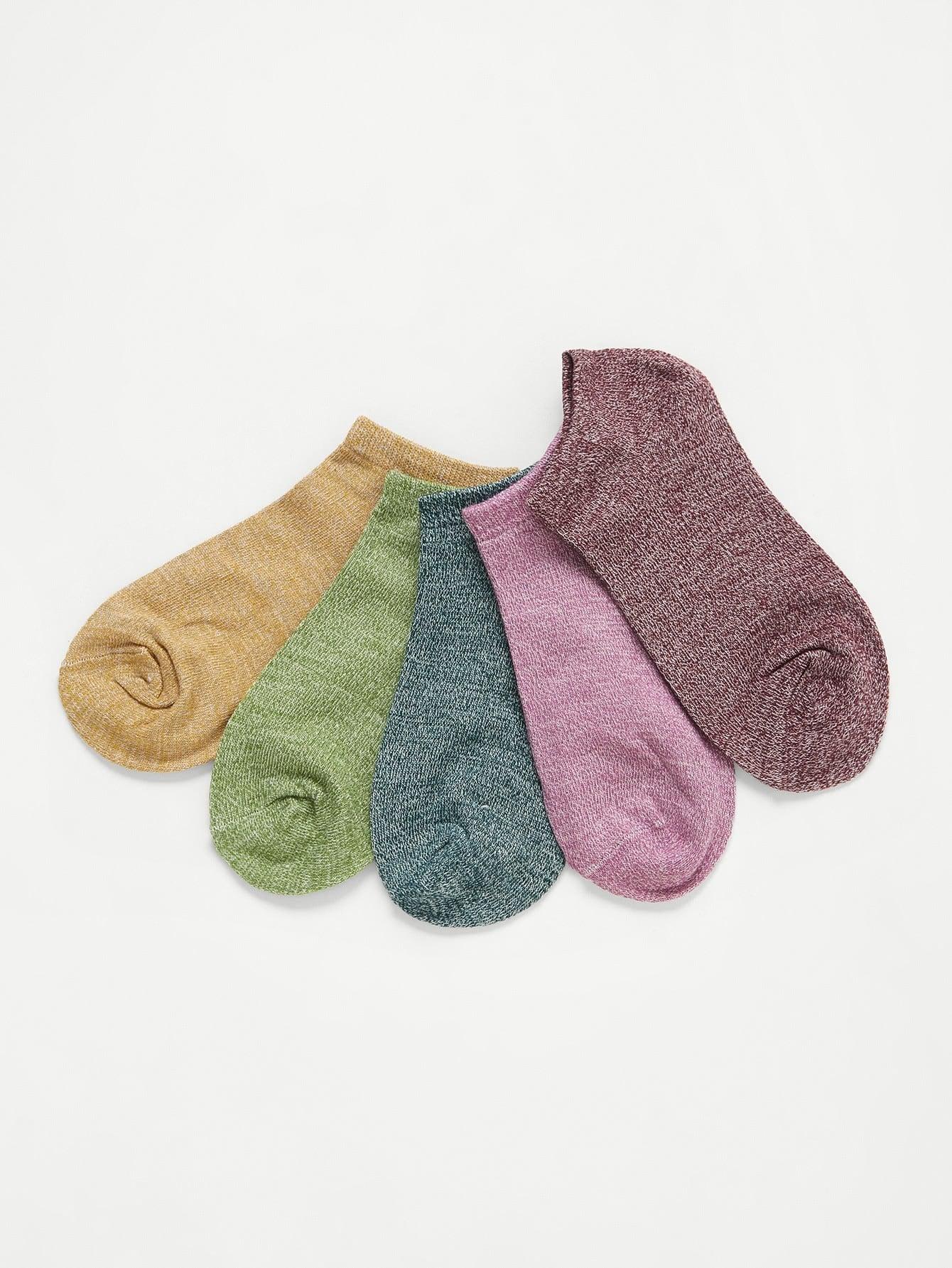 Marled Knit Socks 5pairs