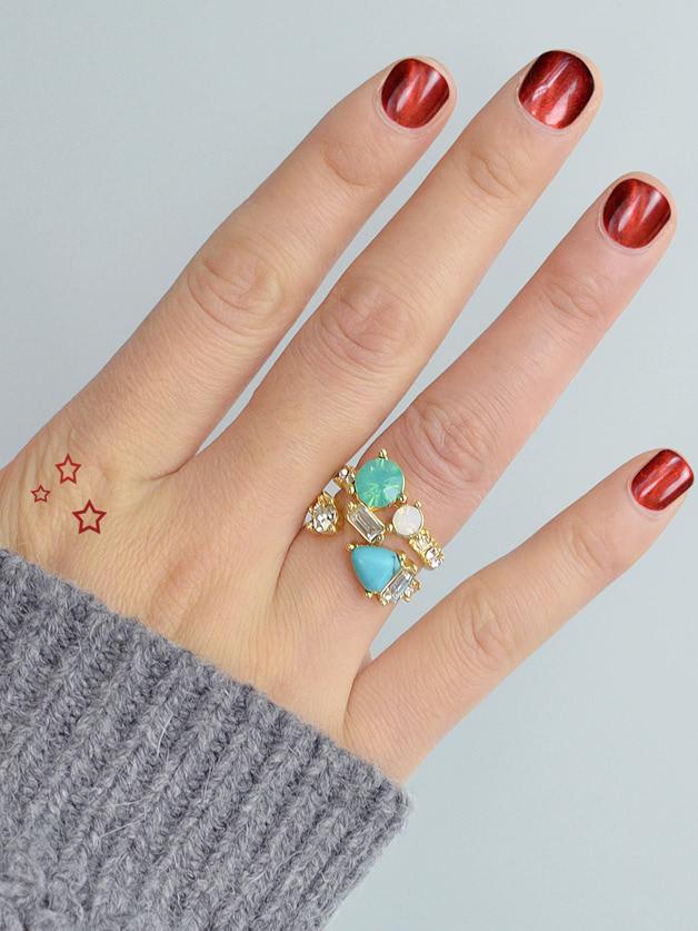 Retro Stone Ring Set