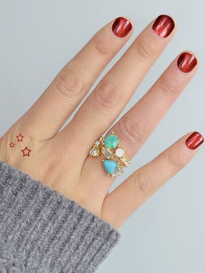 Retro Stone Ring Set