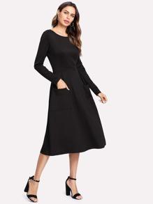 Dual Pocket Skater Dress