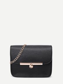 Metal Detail PU Chain Bag