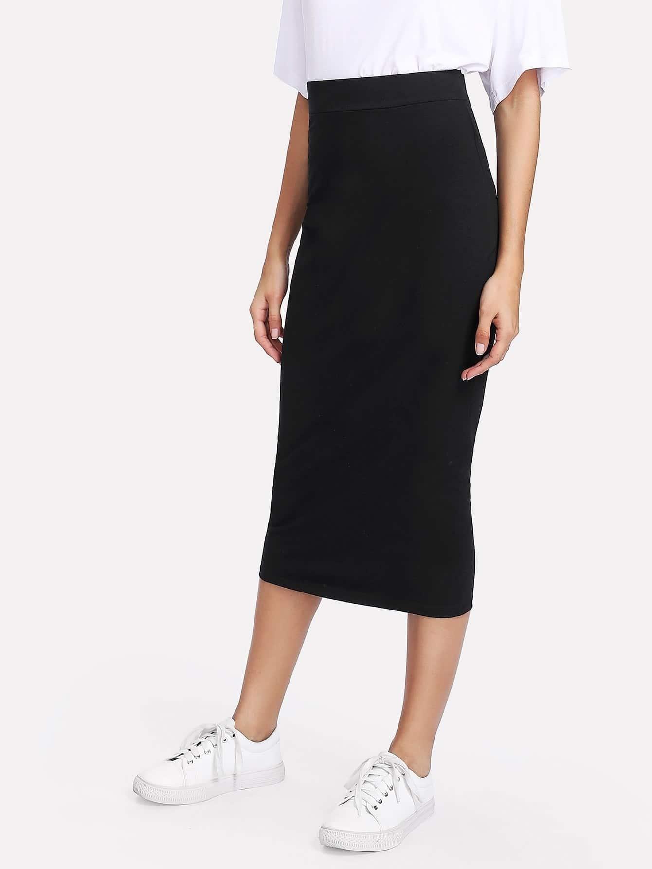 Купить Модная миди юбка, Gabi B, SheIn