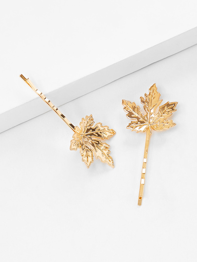 Maple Leaves Hair Clip 2pcs