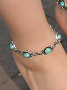 Turquoise Decor Anklet