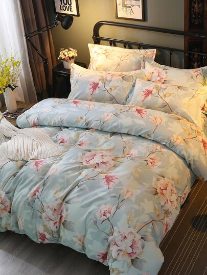 2.0m 4Pcs Blumen Muster Bettlaken Set