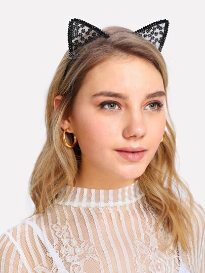 Cat Ear Mesh Headband