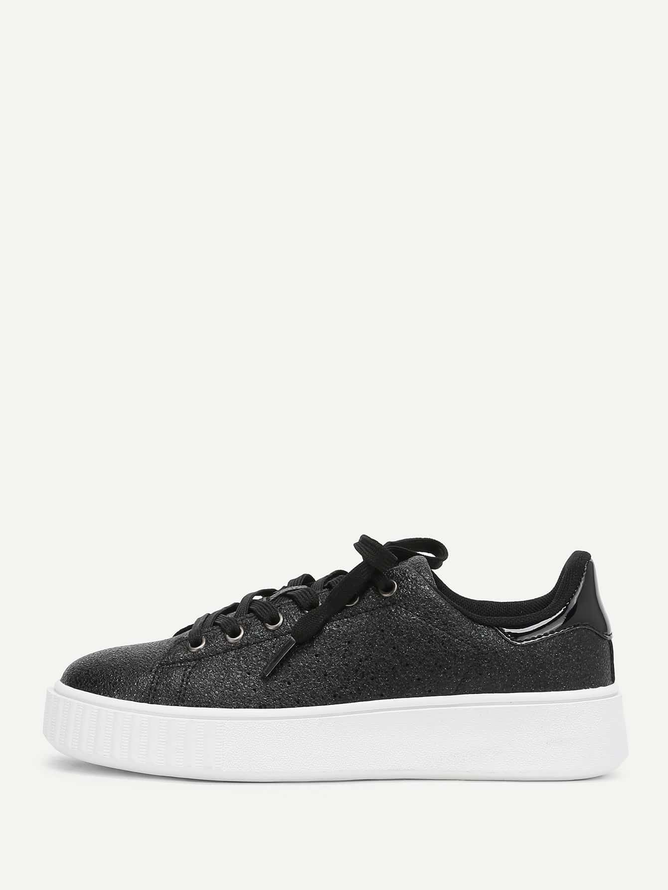 Lace Up Trainers woven detail lace up trainers