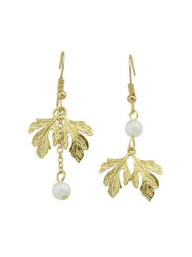 Leaf  Asymmetrical Dangle Earrings