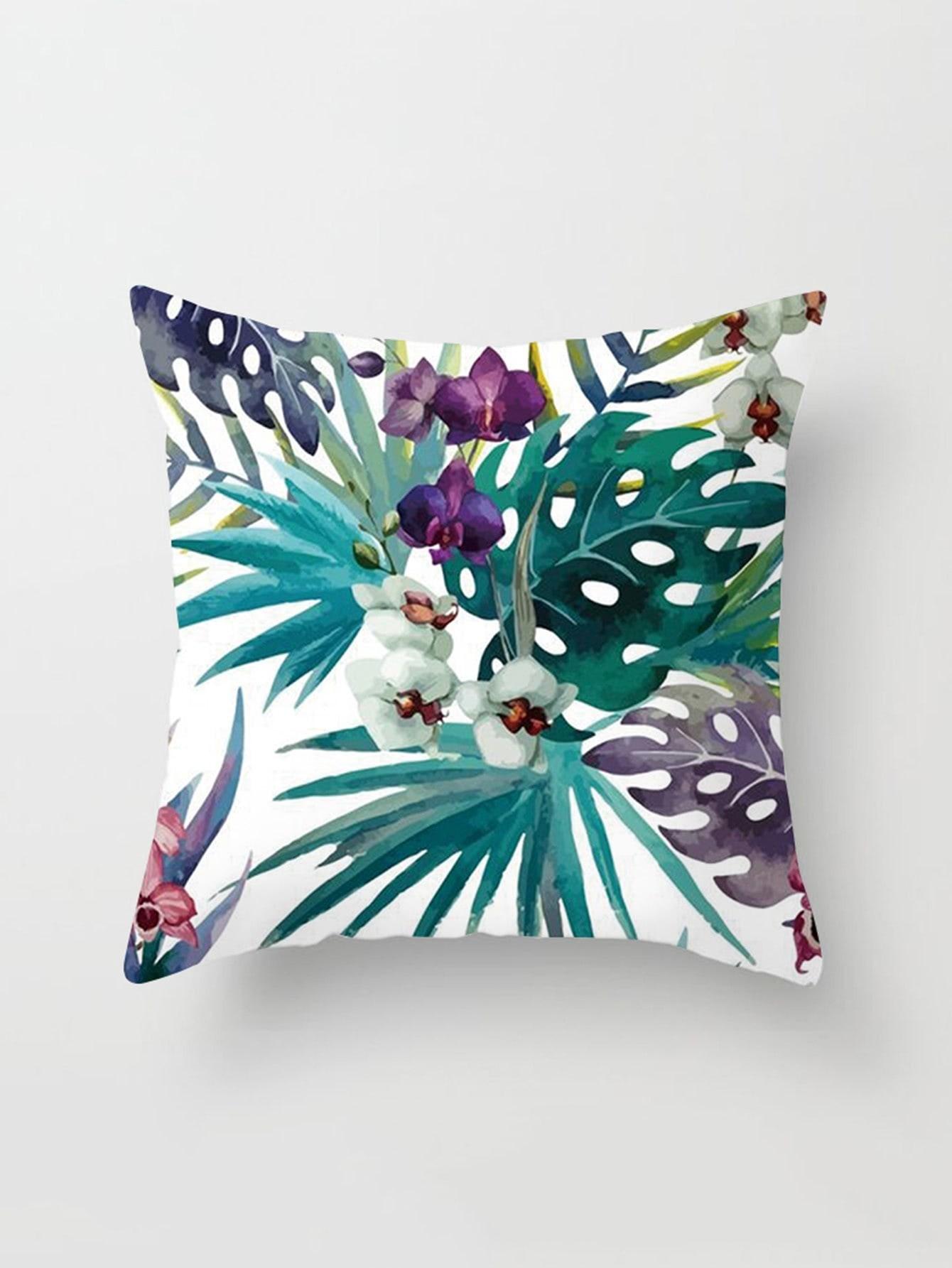 Palm Print Cushion Cover cartoon animal print cushion cover