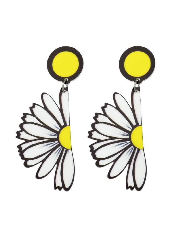 Sunflower Dangle Hanging Earrings