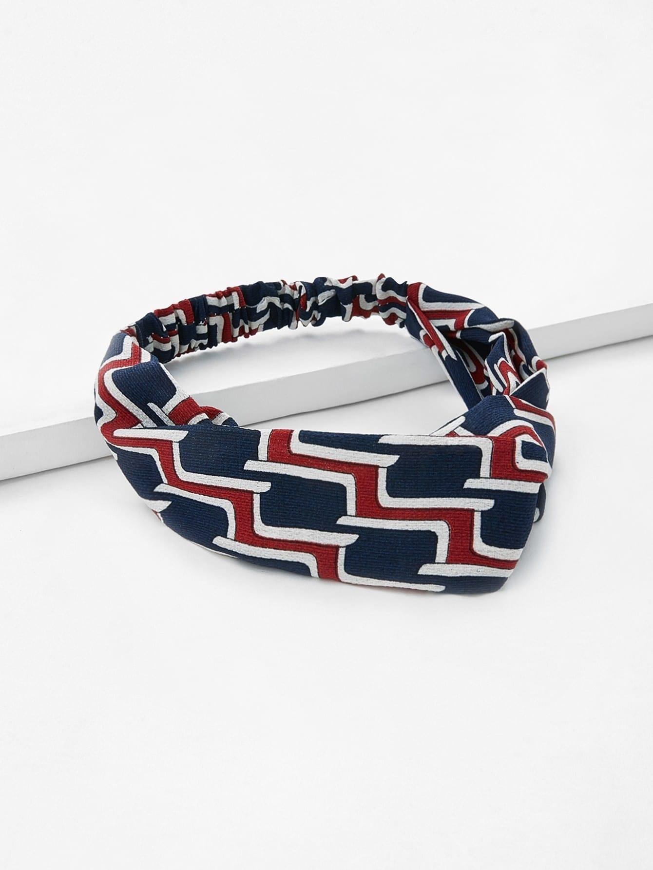 Plaid Twist Headband rib twist headband