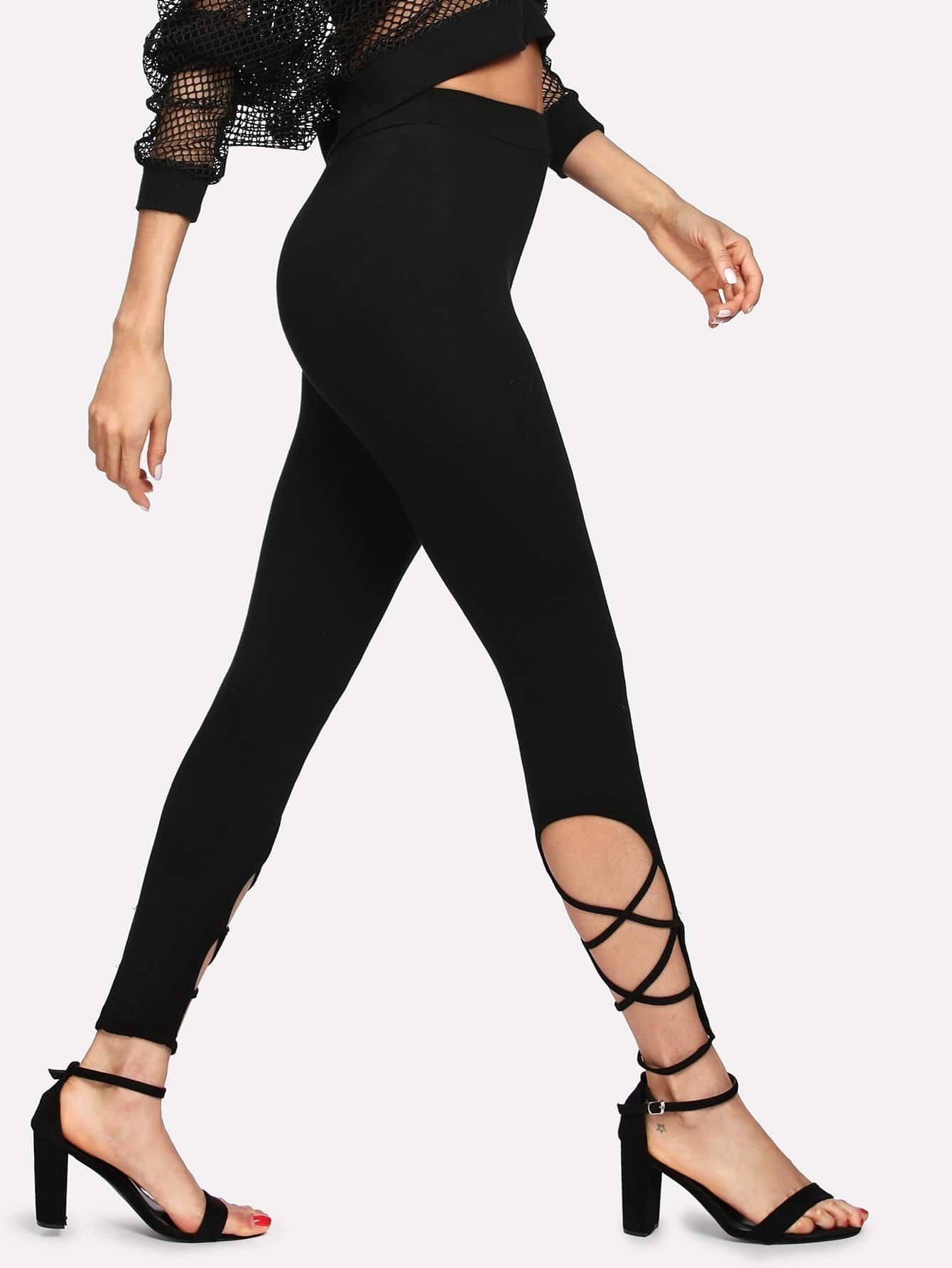 Crisscross Hem Leggings