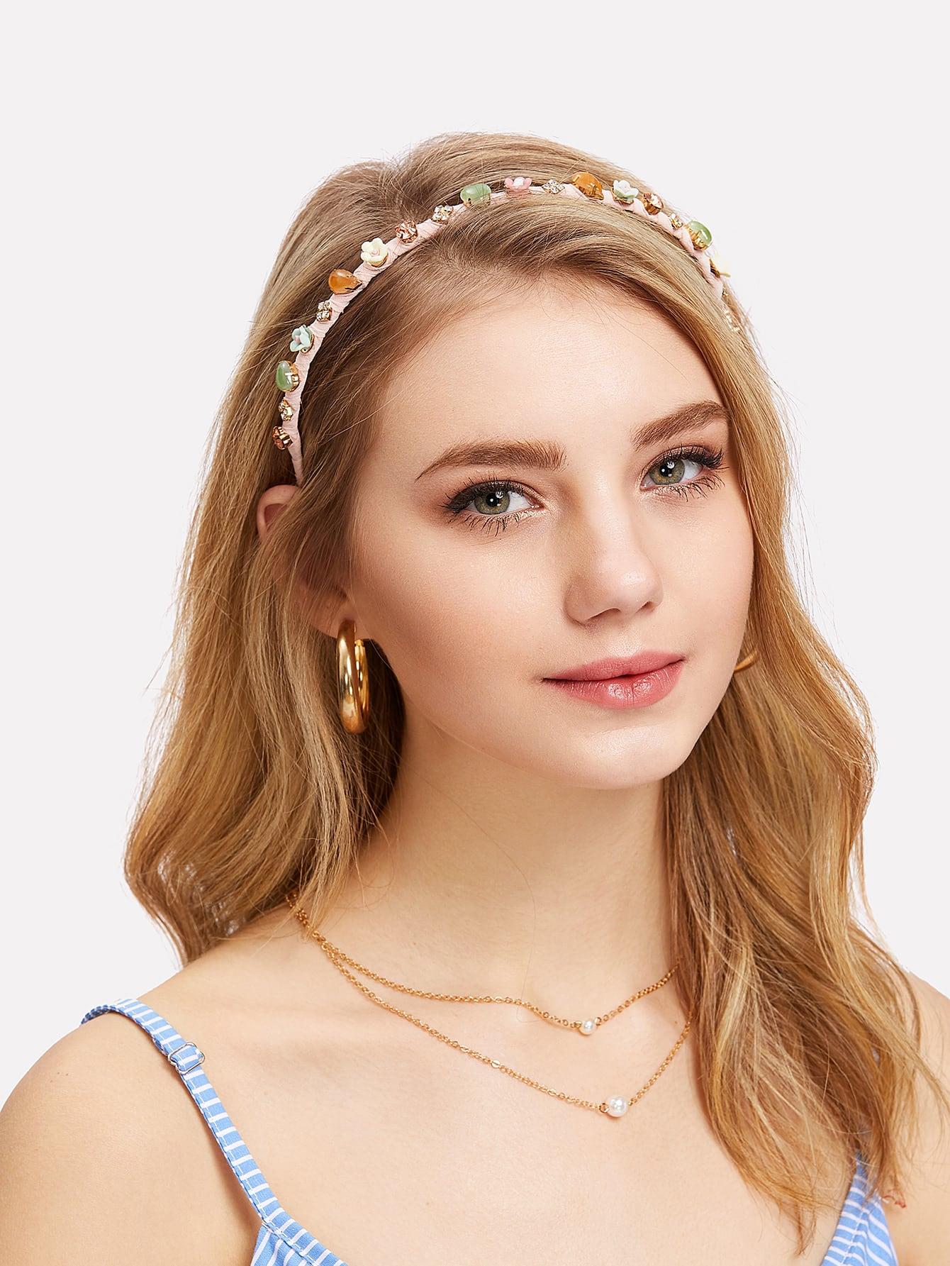 Heart & Flower Decorated Headband