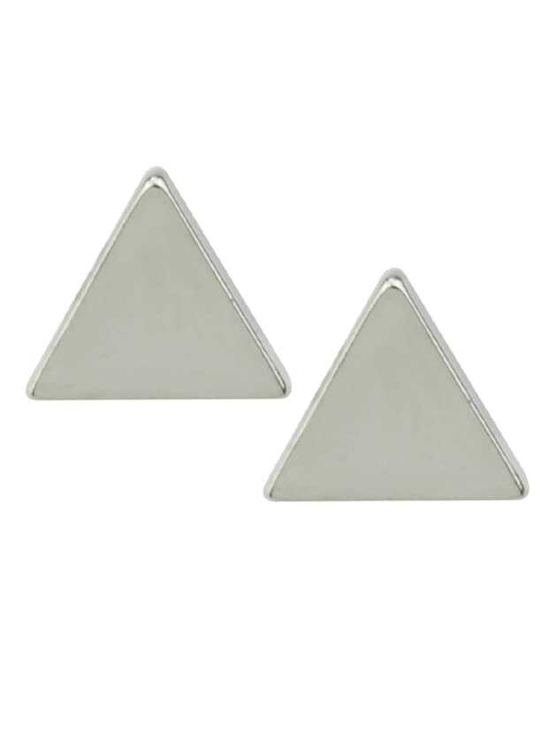 Silver Small Triangle Stud Earrings