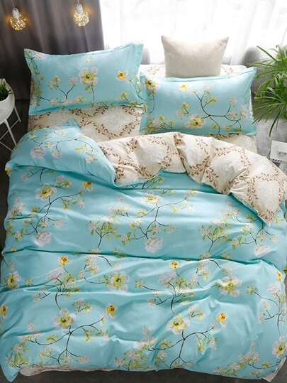2.0m 4Pcs All Over Florals Duvet Cover Set