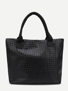 Weave Design Texture PU Tote Bag