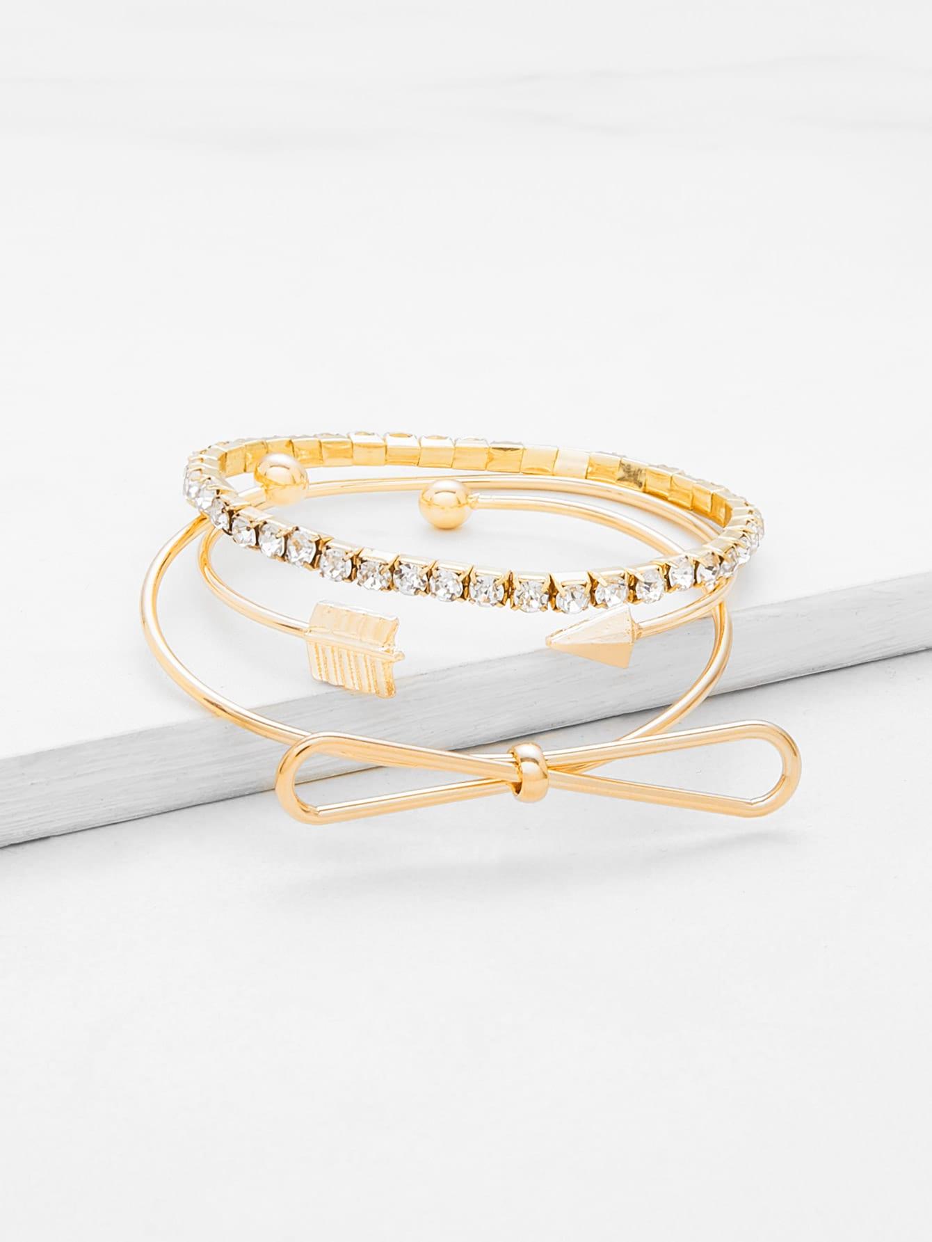 Armband Set mit Strass und Knoten