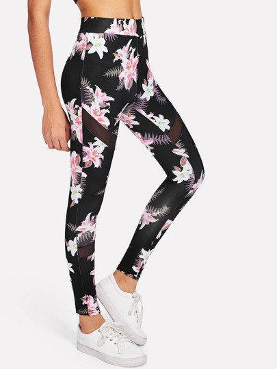 Leggings floreali