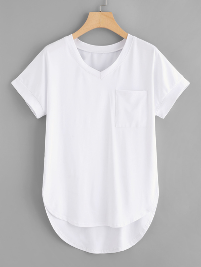 High Low Curved Hem Tee
