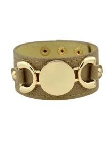 Khaki Original Letter Wide Bangle