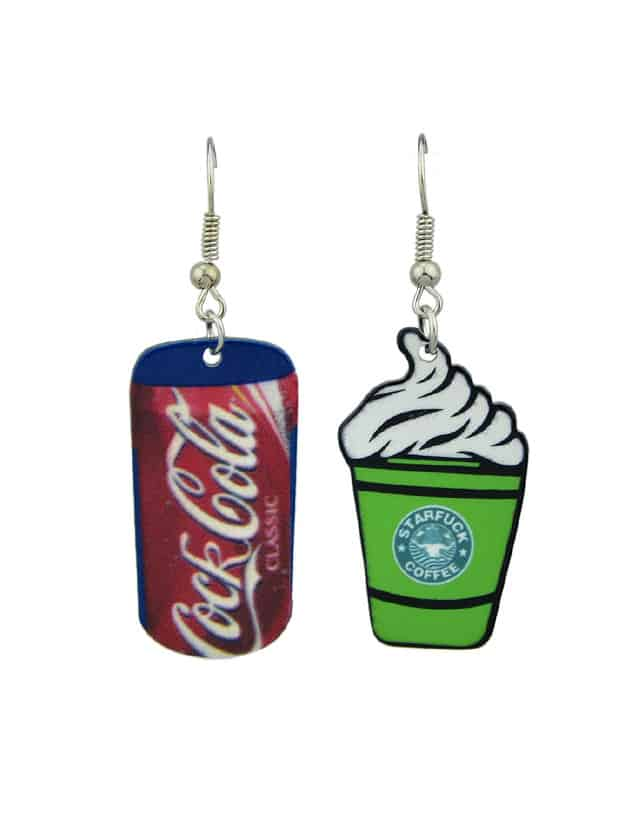 Coke Ice Cream Creative Earrings creative sweet lovely ice cream lamp for kid s bedroom