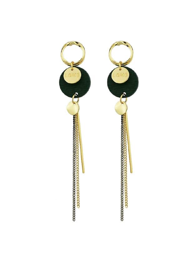 Green Vintage Wood Tassel Earrings кольцо green wood green wood mp002xw0dwkx
