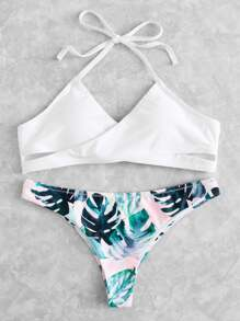 Cross Wrap Tropical Mix & Match Bikini Set