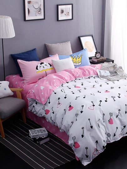 1.0m 3Pcs All Over Pattern Bed Sheet Set
