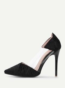 Zapatillas de seda de punta con diseño transparente