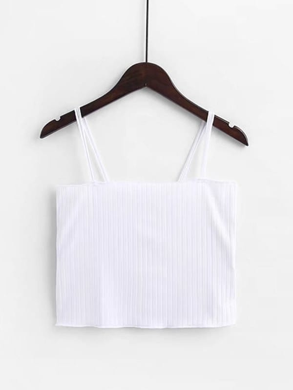 цена на Rib Cami Crop Top