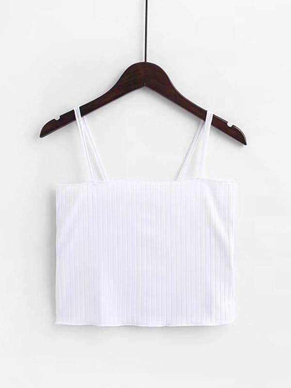 Rib Cami Crop Top vest180124202