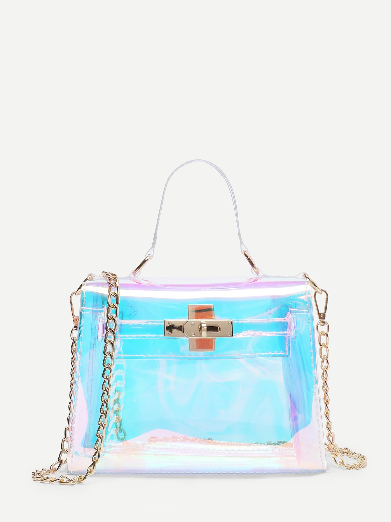 Iridescence Clear Satchel Bag цена