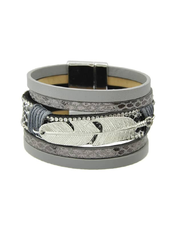 Gray Multilayer Blue Black Pu Leather Wrap Bracelets игрушка ecx ruckus gray blue ecx00013t1