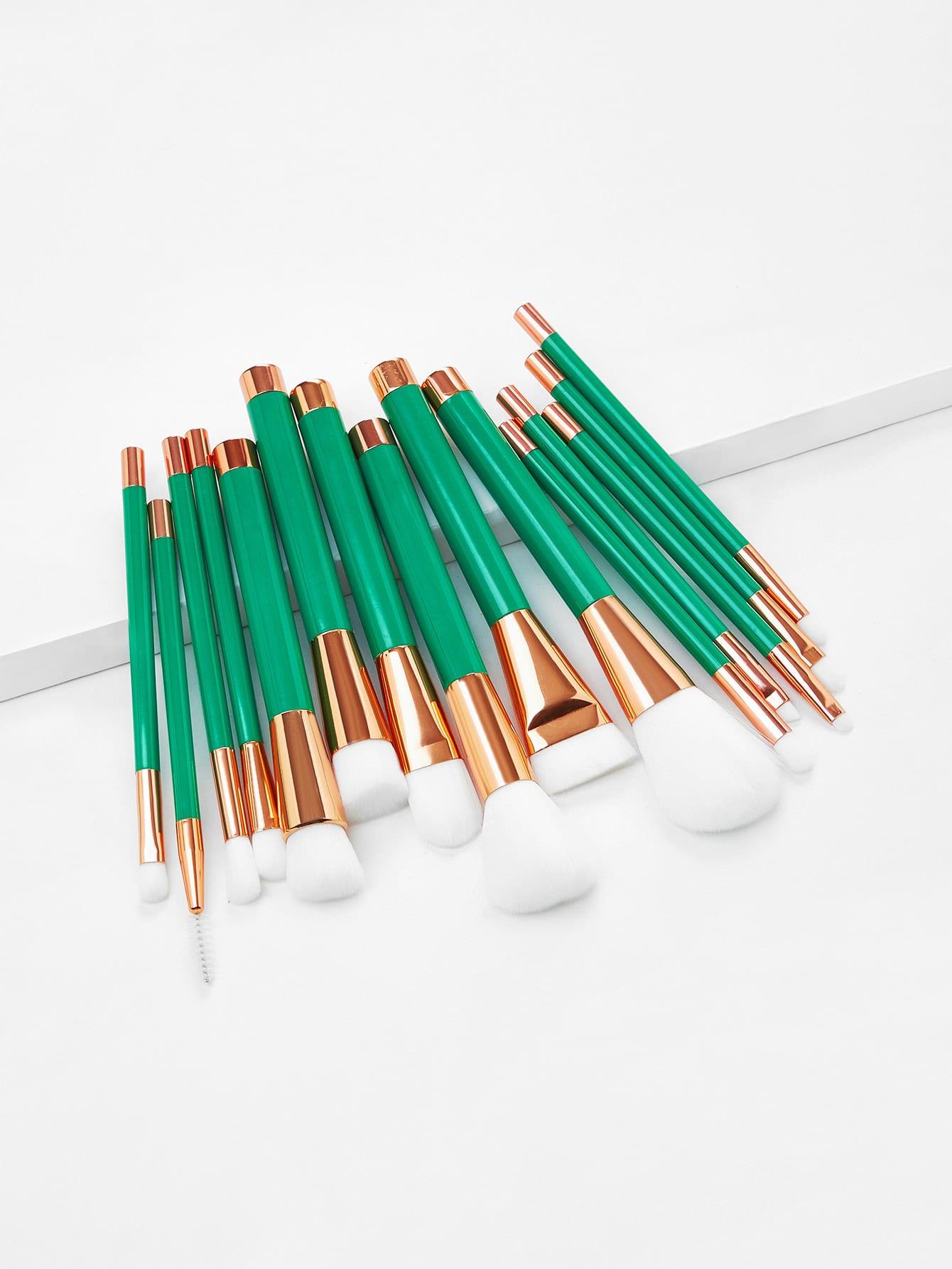 Color Block Makeup Brush 15pcs