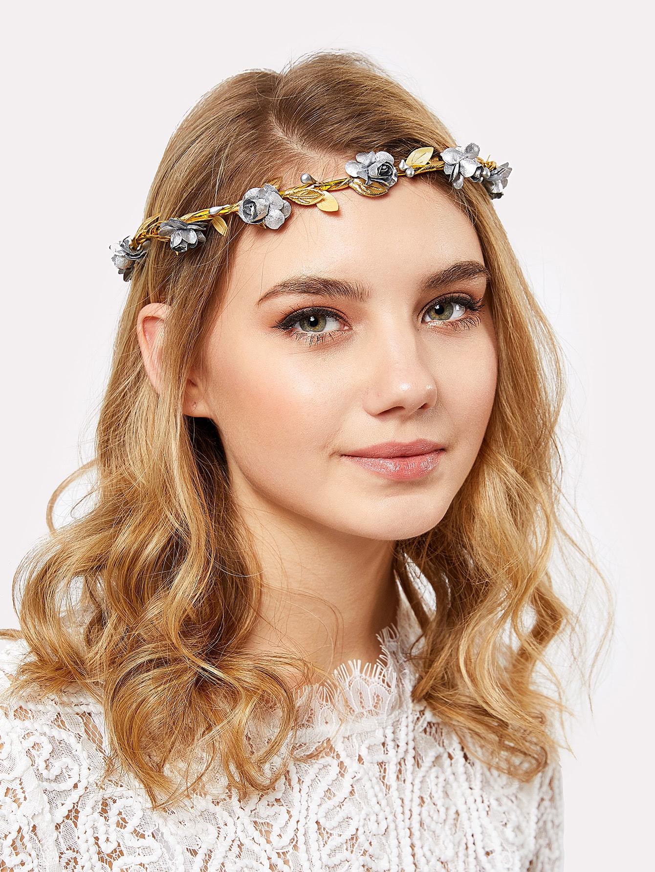 Flower Decorated Hair Garland