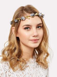 Flower Decorated Hair Garland