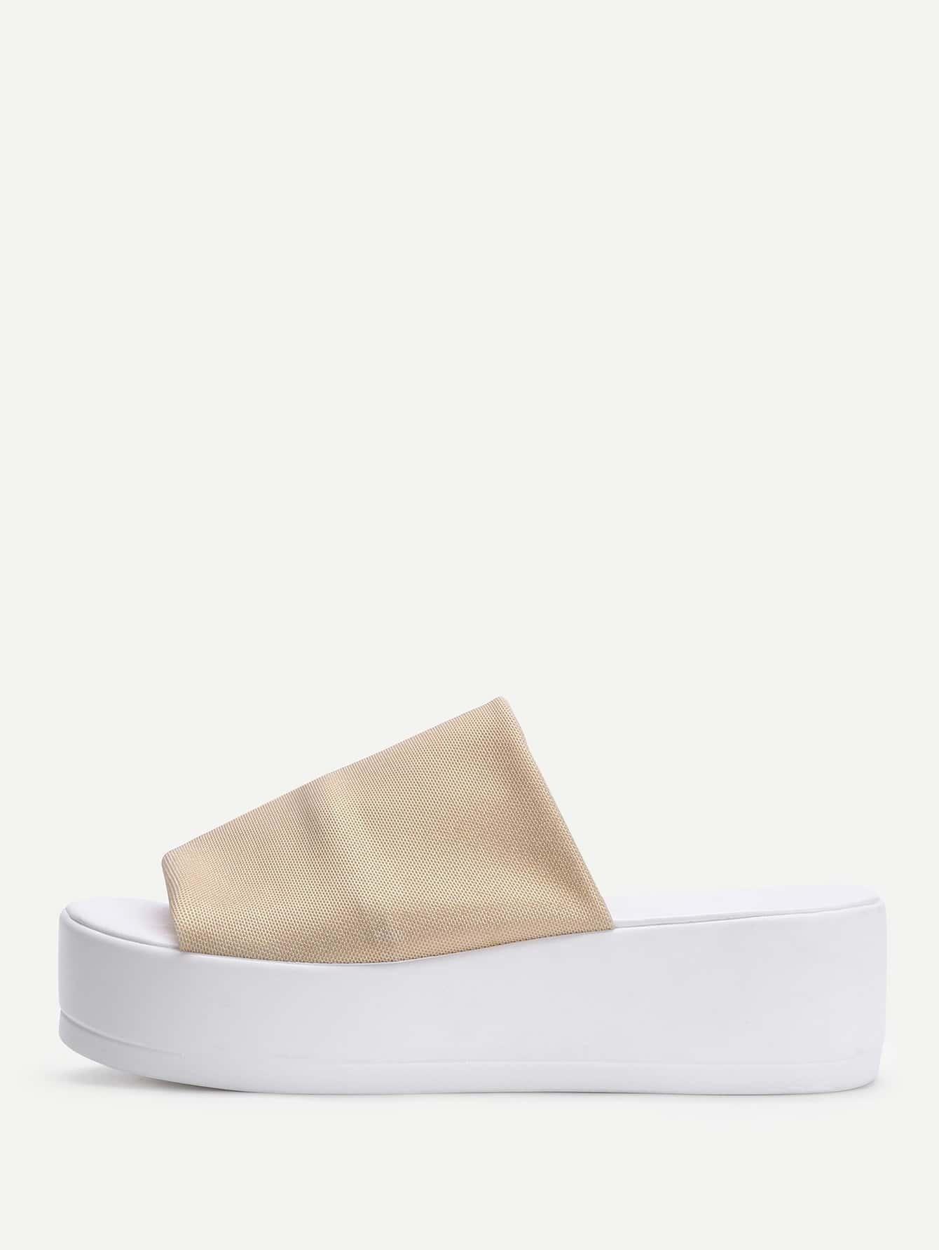 Open Toe Flatform Sandals