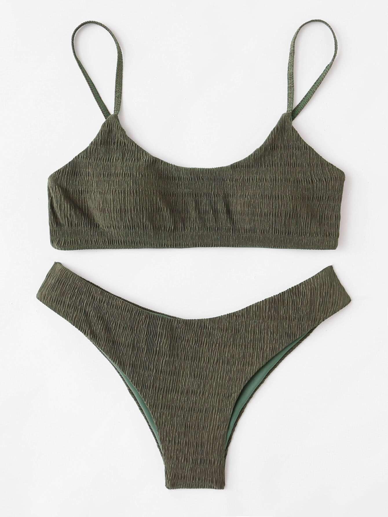 Shirred Cami Bikini Set