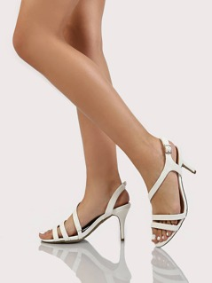 Around Kitten Heels WHITE
