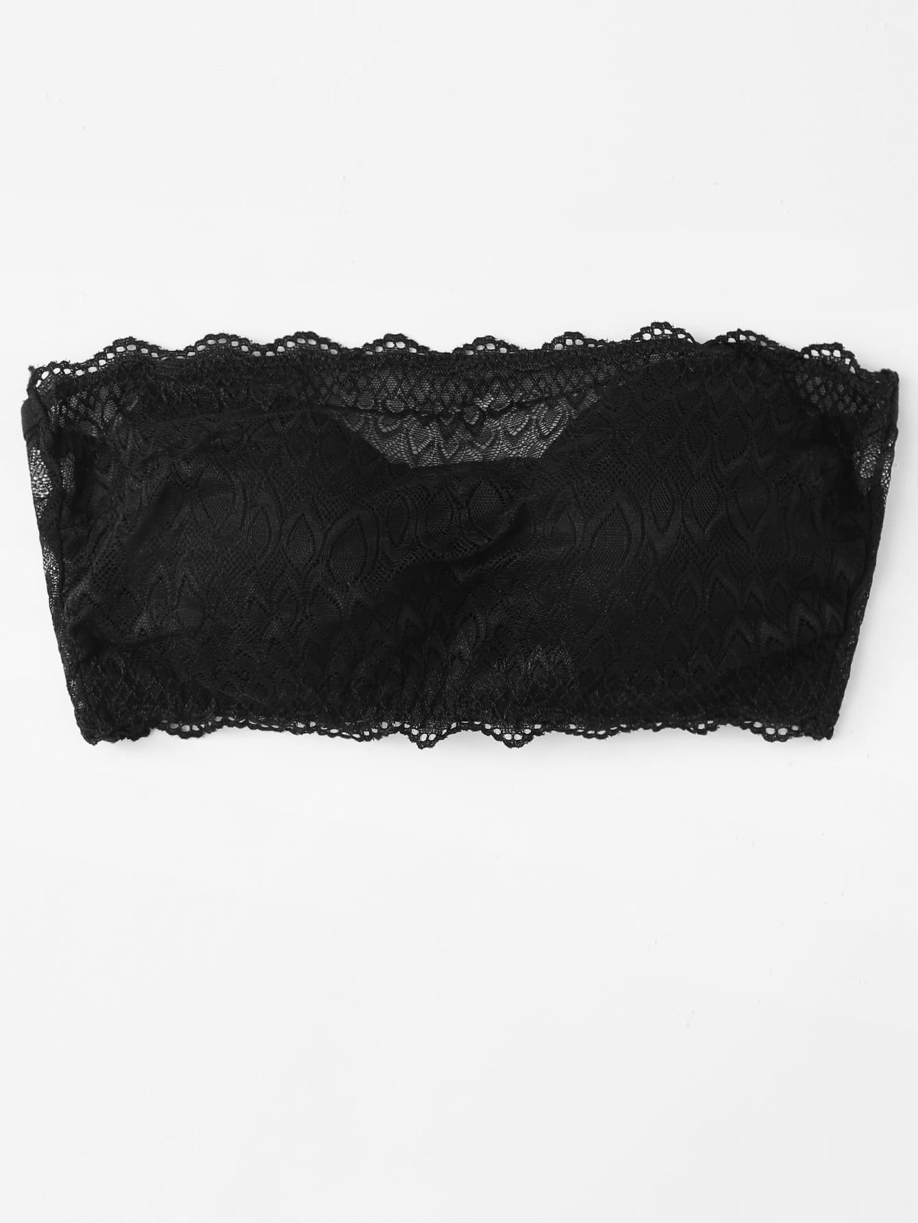 Scalloped Trim Lace Bralette