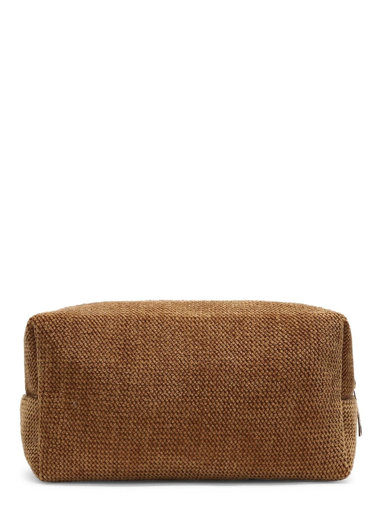 Chenille Zipper Makeup Bag