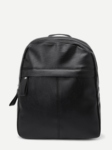 PU Zipper Design Backpack