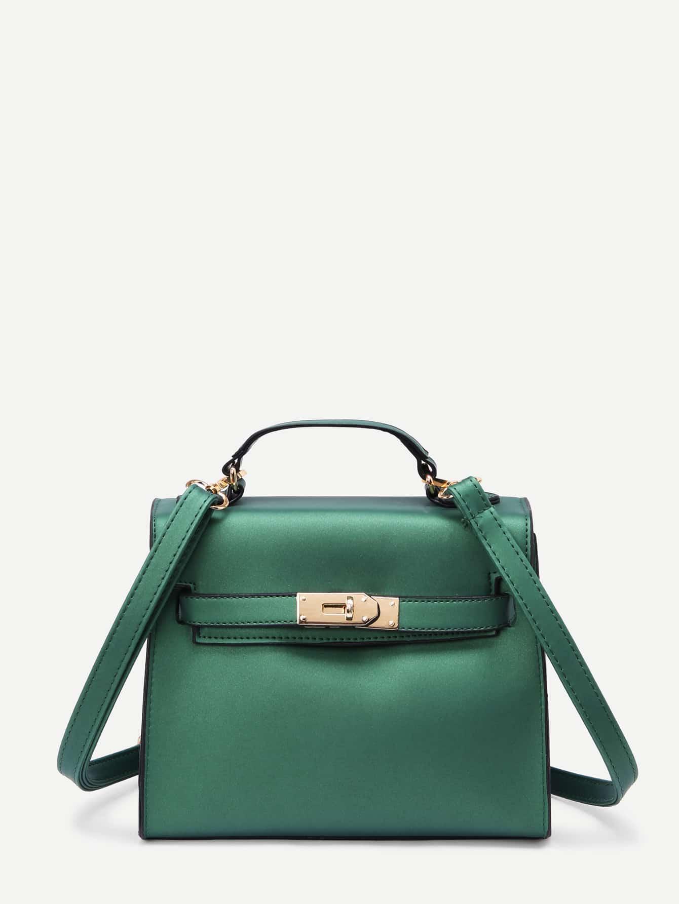 Twist Lock Detail PU Bag