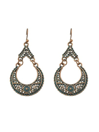 Retro Big Water Drop Earrings