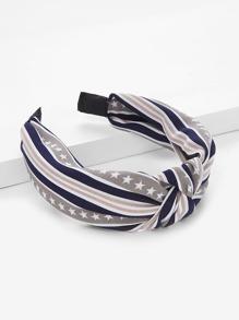 Star & Striped Knot Headband