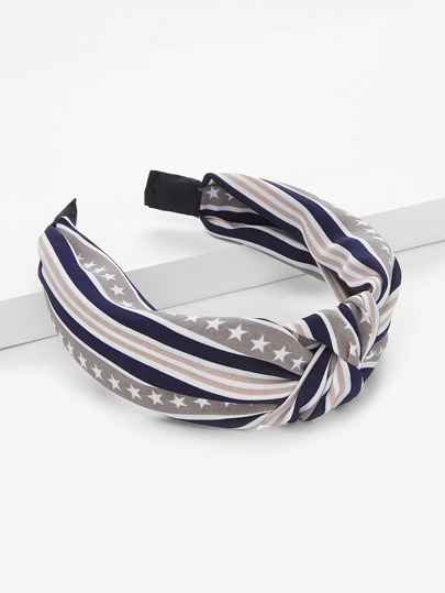 Star & Striped Knot Headband