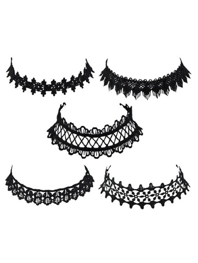 European Lace Choker Necklace Set