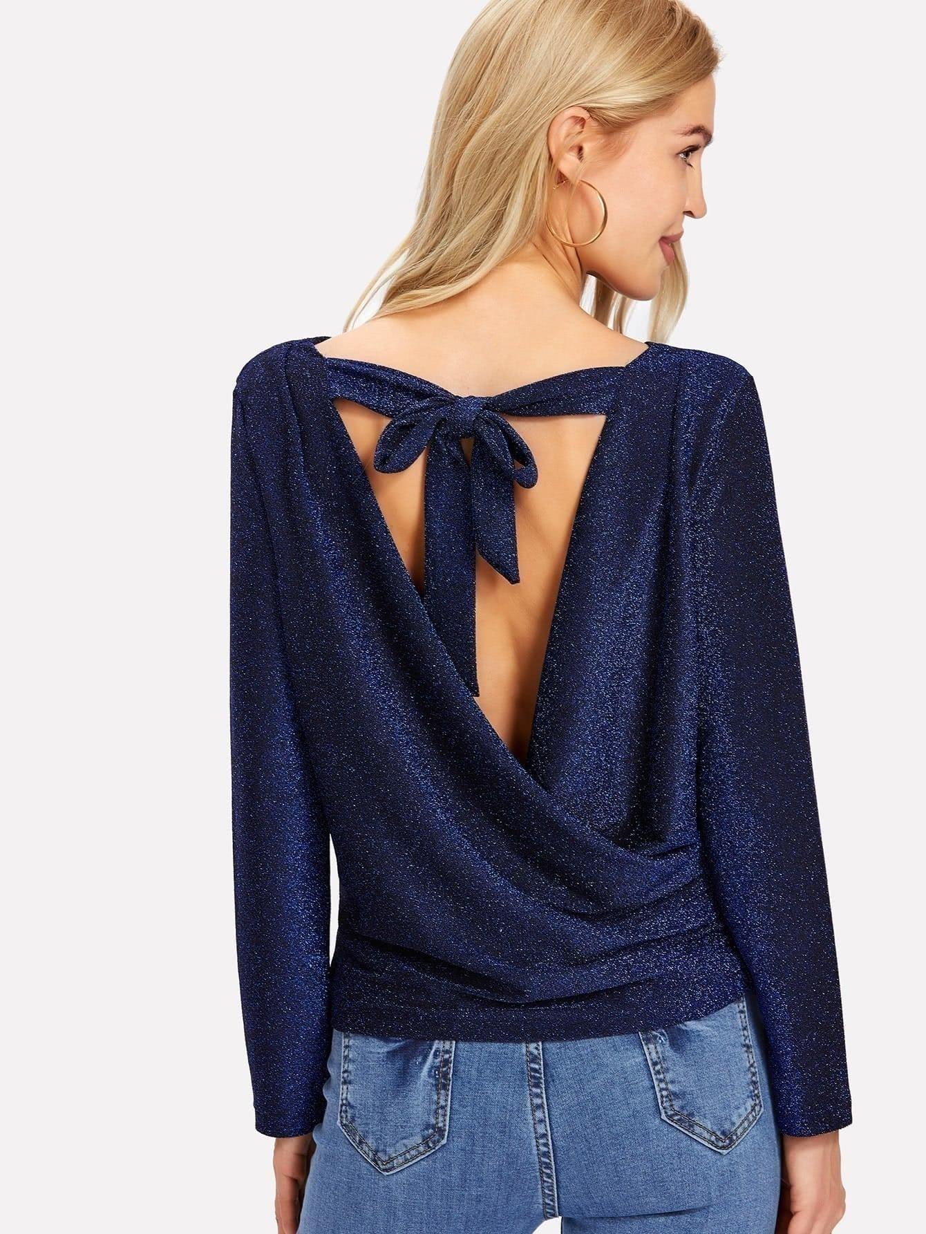 Блестящая блузка с блестками