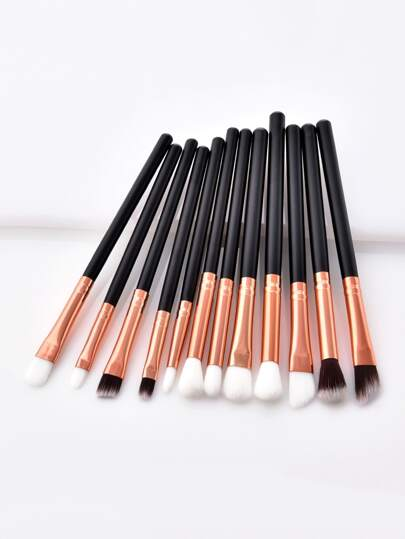 Two Tone Handle Eye Brush 12pcs